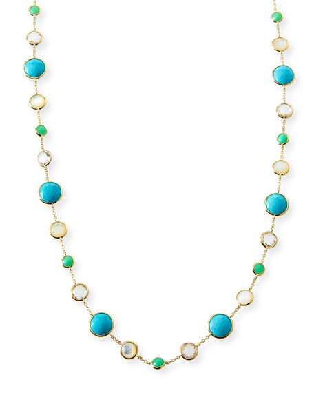 18k Gold Rock Candy Lollitini Necklace in Pacific, 36""