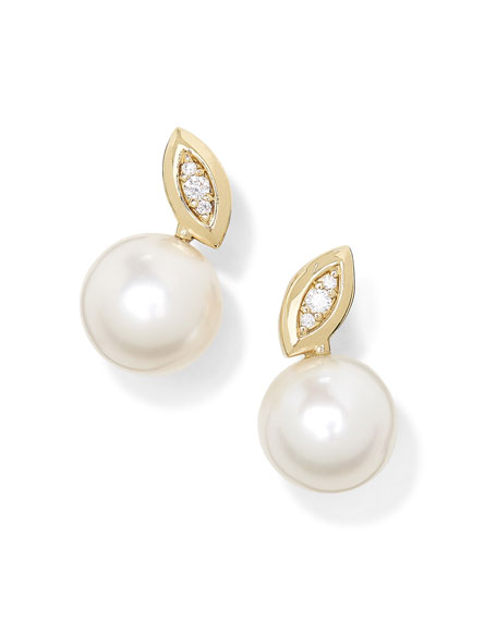 Ippolita 18k Nova Diamond & Pearly Stud Earrings