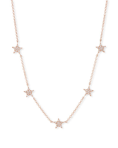 14k Mini Star Diamond Necklace