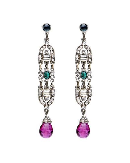 Ben-Amun Velvet Glamour Deco Drop Earrings