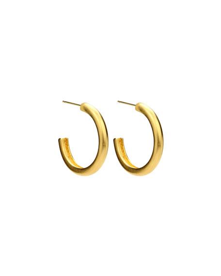 Satin Round Hoop Earrings