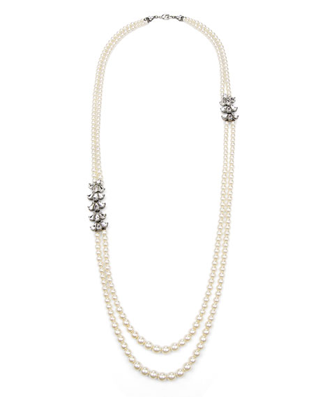 Ben-Amun Two-Row Pearly Beaded Necklace