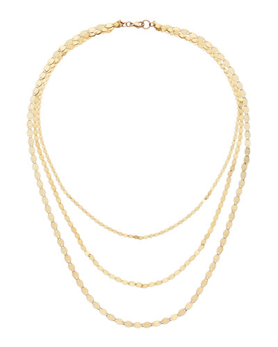 14k Triple Nude Chain Necklace