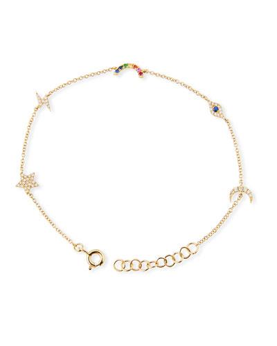 14k Diamond Cosmic Charm Bracelet