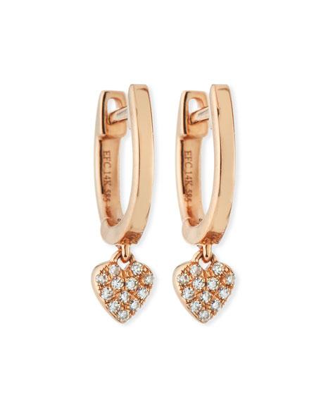 EF Collection 14k Mini Huggie Diamond Drop Earrings TCxPMABvf
