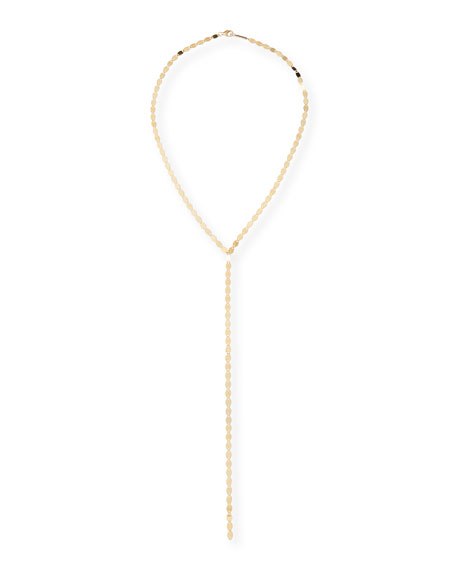 LANA 14K Nude Lariat Necklace in Yellow Gold