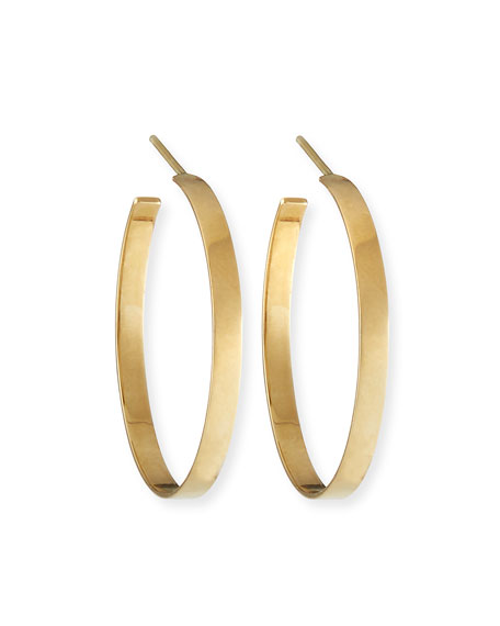 14k Flat Hoop Earrings