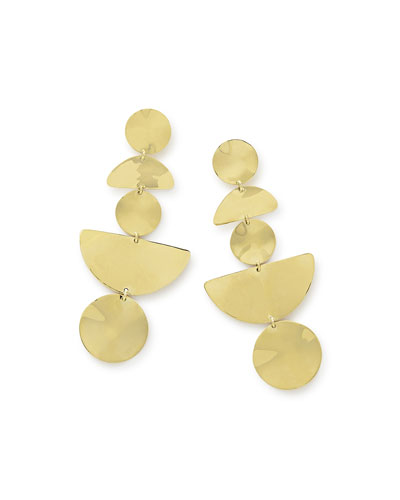 18k Classico Multi-Shape Wavy Earrings