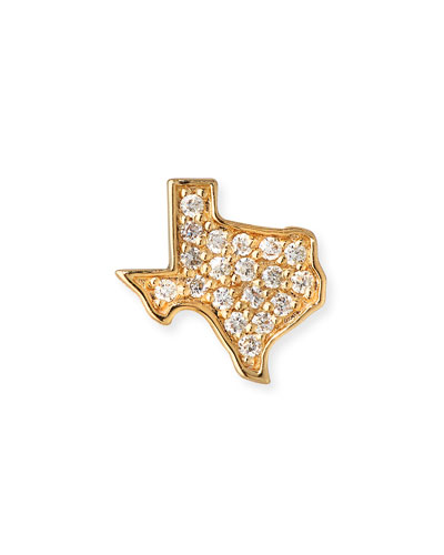 14k Diamond Texas Single Stud Earring