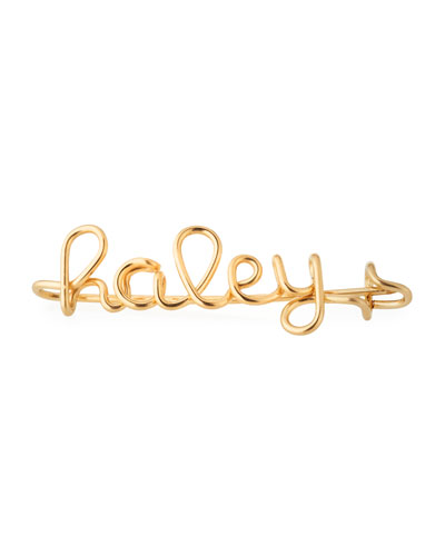 Personalized 10-Letter Wire Brooch  Yellow Gold Fill