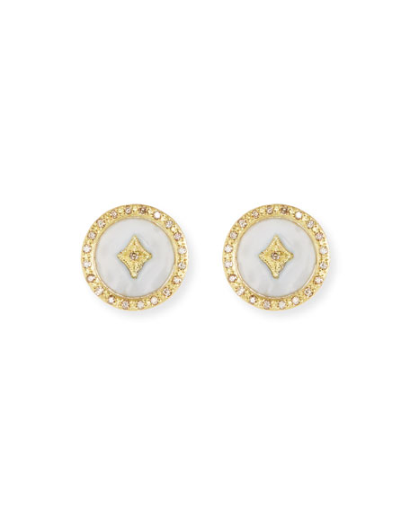 Armenta Old World 18k Enamel Diamond Star Stud