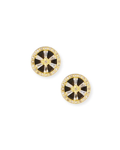 Old World Round Stud Earrings