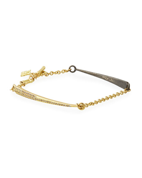 18k Old World Diamond Dagger Chain Bracelet