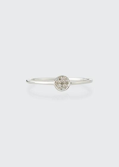 Tiny Pave Diamond Disc Ring