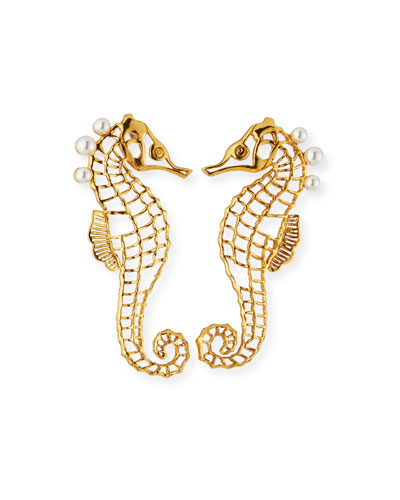 Seahorse Post Earrings