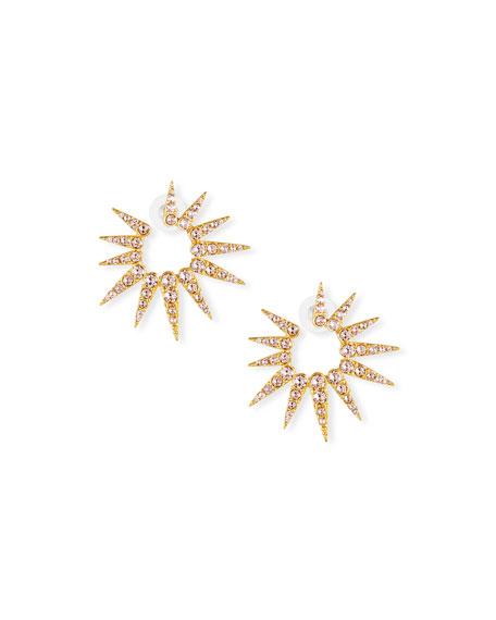 Sea Urchin Small Crystal Earrings