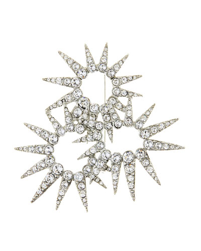 Sea Urchin Crystal Brooch