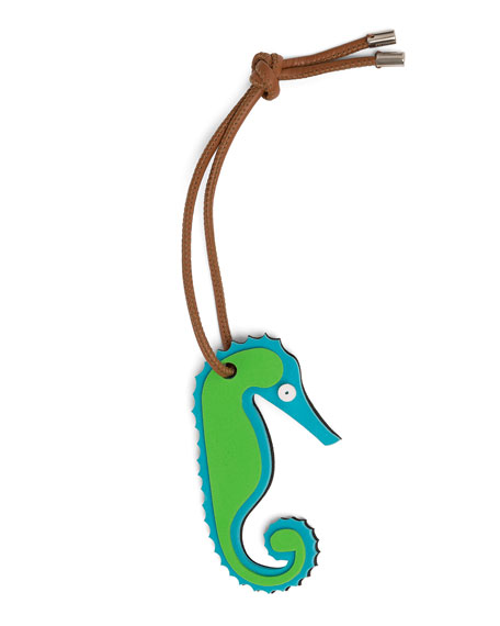 LOEWE X Paula'S Ibiza Ii Seahorse Bag Charm, Blue/Green