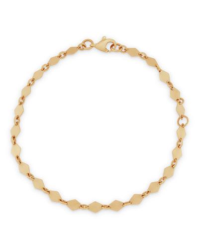 14k Mini Kite Chain Bracelet