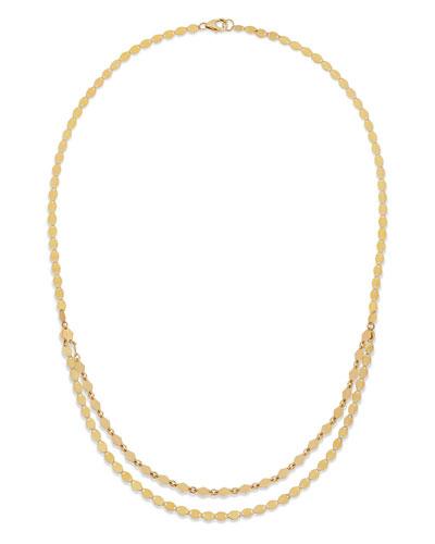 14k Kite Double-Strand Necklace