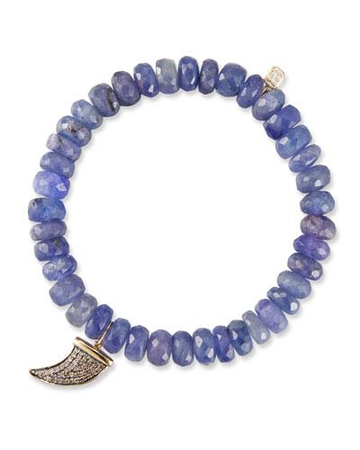 14k Tanzanite Rondelle Bracelet w/ Horn