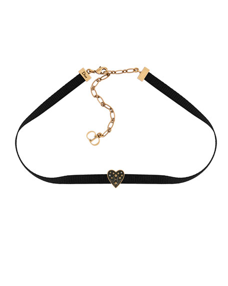 """Dior Or"" Heart Choker by Dior"