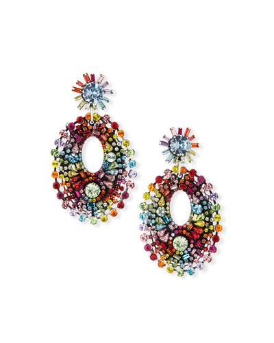 Mathilde Rainbow Crystal Drop Earrings