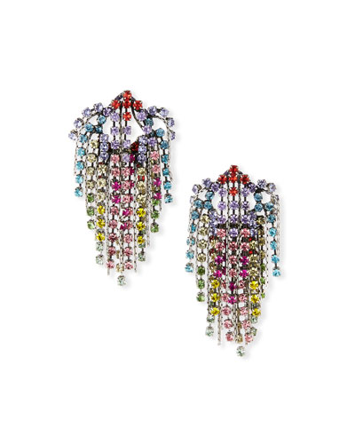 Cecilia Rainbow Cluster Statement Earrings