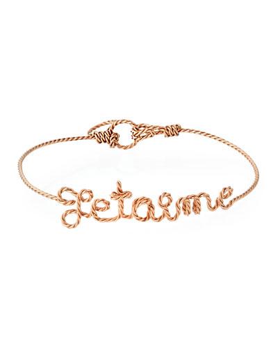 Personalized 5-Letter Twist Wire Bracelet  Rose Gold Fill