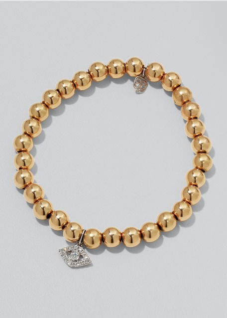 SYDNEY EVAN 14K TWO-TONE GOLD & DIAMOND EYE BRACELET
