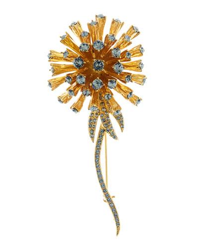 Crystal Dandelion Brooch