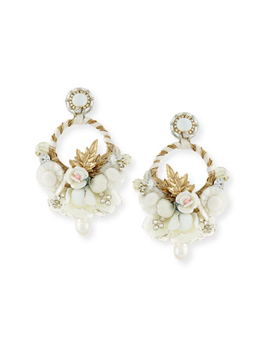 Yvonne Clip-On Chandelier Earrings
