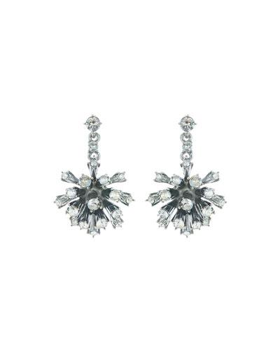 Crystal Dandelion Drop Earrings