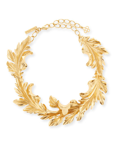 Baroque Leaves Collar Necklace