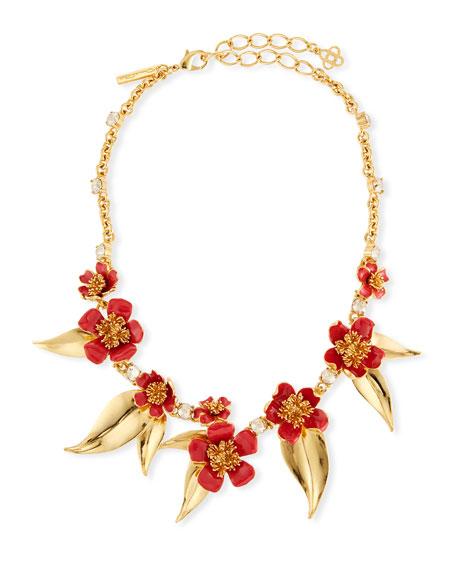 Oscar de la Renta Delicate Flowers Collar Necklace