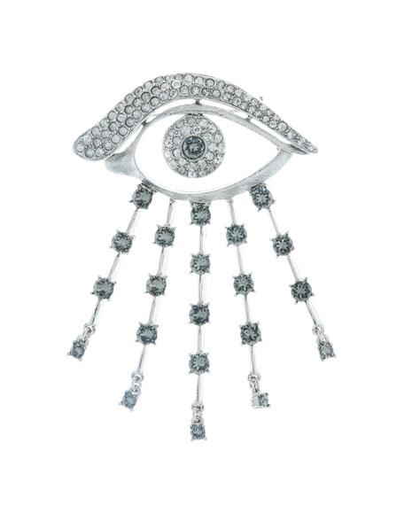 Crystal Eye Brooch, Black