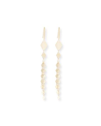 14k Gold Multi-Kite Linear Drop Earrings