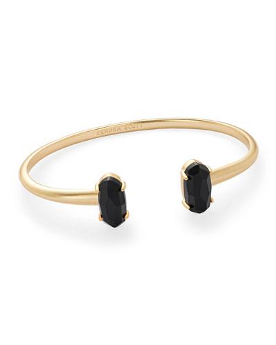 Edie Two-Stone Bangle Bracelet