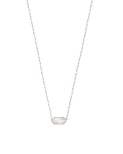 Ever Pendant Necklace in Rhodium