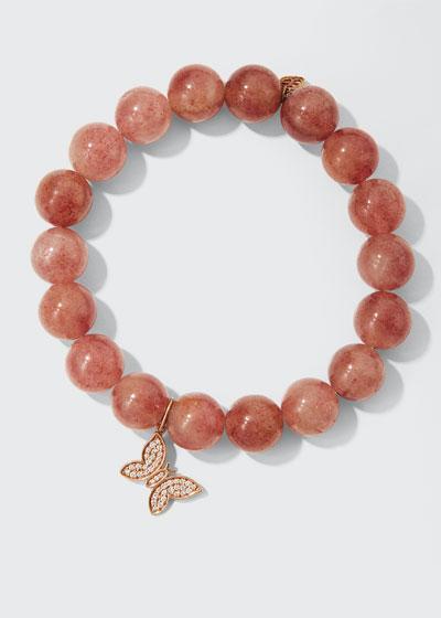 Muscovite & Diamond Butterfly Bracelet