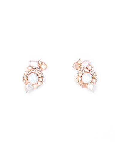 Gaby Metallic Earrings  Rose