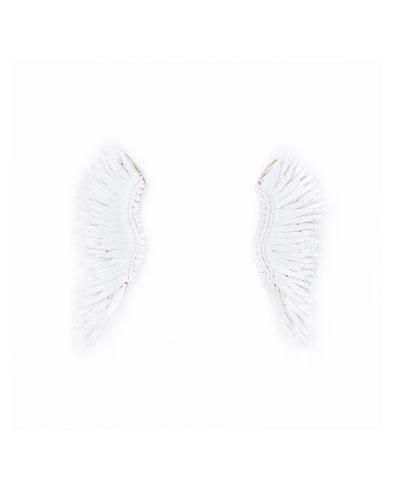 Madeline Matte Statement Earrings  White