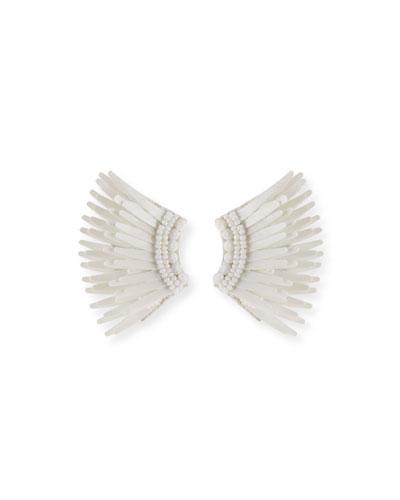 Madeline Mini Matte Earrings  White