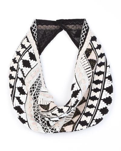 Nonna Cotton-Silk Blend Scarf Necklace