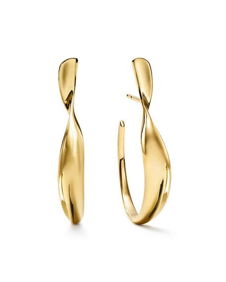 IPPOLITA 18K CLASSICO SMALL TWISTED RIBBON HOOP EARRINGS