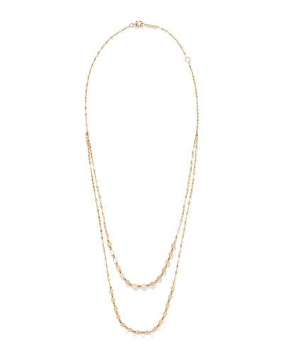 Kite Remix 14k Gold Duo Layer Necklace