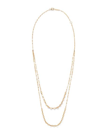 LANA Kite Remix 14k Gold Duo Layer Necklace