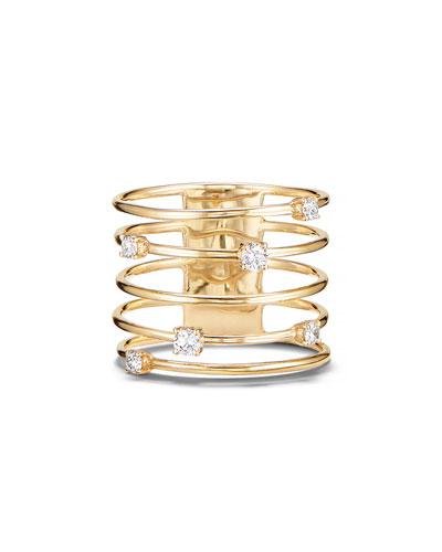 14k Gold Diamond Wire Crown Ring