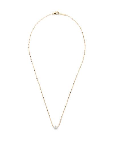 14k Gold Marquise-Cut Diamond Pendant Necklace