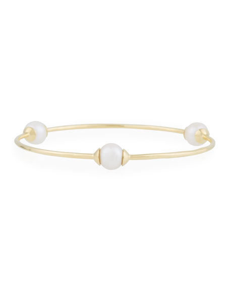 Ippolita 18K Gold Nova 3-Station Bangle Bracelet